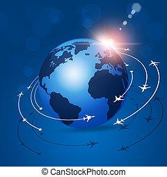 世界的である, 航空学, 背景