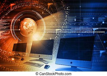 世界的である, 計算機ネットワーク