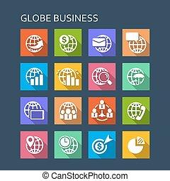 世界的である, 金融, ビジネス, アイコン