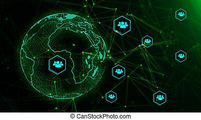 世界的である, concept., ネットワーク