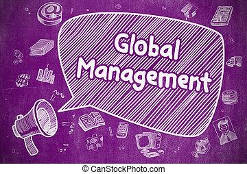 世界的である, concept., 管理, -, ビジネス