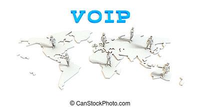 世界的である, voip, ビジネス