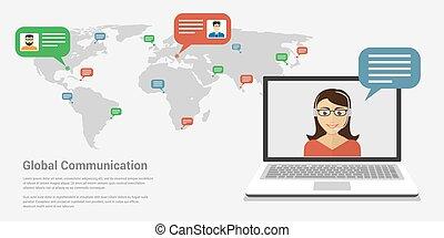 世界的なコミュニケーション, 旗