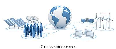 世界的なネットワーク, デジタル