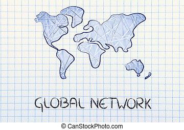 世界的なネットワーク, ビジネス, 中に, ∥, 現代, 接続される, 世界