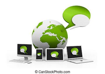 世界的なネットワーク, 装置