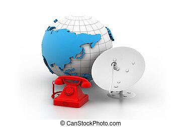 世界的な遠距離通信