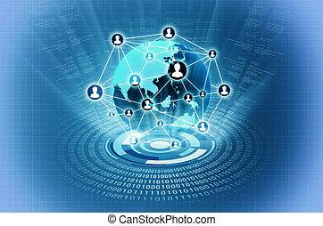 世界的に, ネットワーク, 人々