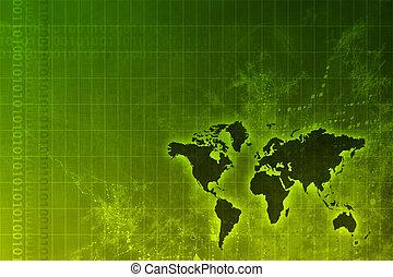 世界的に, 成長, 企業である, 抽象的