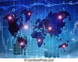 世界的に, 電子, 投資
