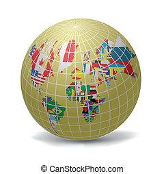 世界, すべて, 旗