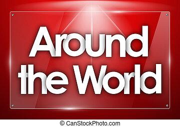 世界, のまわり, 単語ガラス, 透明, 形