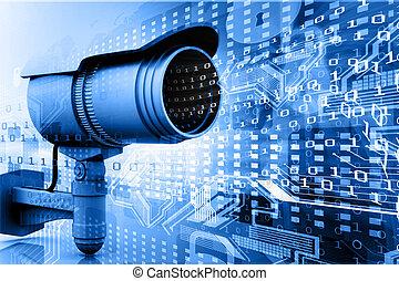 世界, カメラ, デジタル, 監視