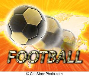世界, サッカーフットボール, カップ