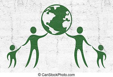 世界, シンボル, 平和