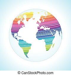 世界, デジタルデザイン, 地図