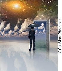 世界, ドア, もう1(つ・人)