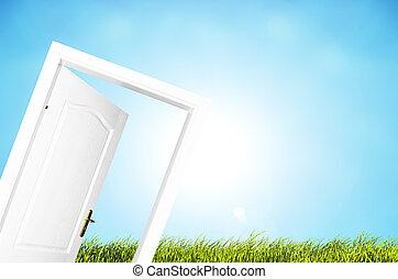 世界, ドア, 新しい