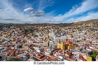 世界, パノラマである, mexico., 光景, 相続財産, guanajuato, サイト。, ユネスコ