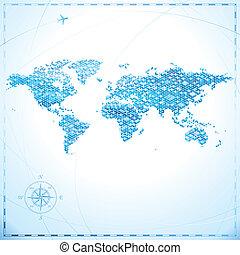 世界, ピクセル地図