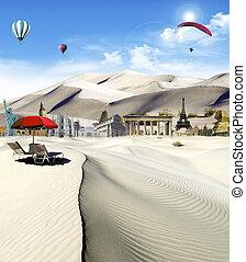 世界, ランドマーク, 砂漠