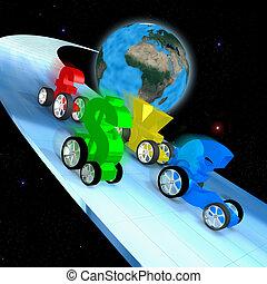 世界, レース, 経済