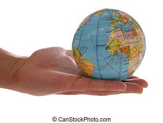 世界, 中に, ∥, やし, の, あなたの, 手