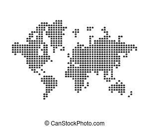 世界, 地図, 成っている, の, アイコン, 写真, カメラ。, 概念, ∥ために∥, photographer., 平ら, ベクトル, イラスト, eps, 10