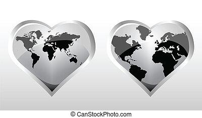 世界, 地図