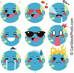 世界, 地球, emoji