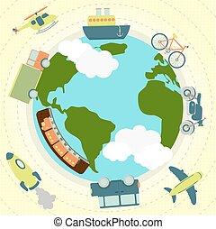 世界, 大約, 運輸