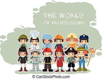 世界, 専門職