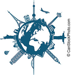 世界, 建物, 地球