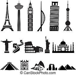 世界, 建物