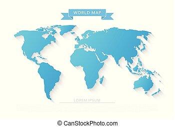 世界, 影, 長い間, 地図