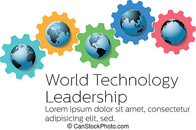 世界, 技術, 全球, 領導人, 齒輪