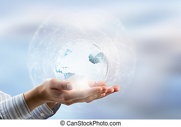 世界, 技術, 接続