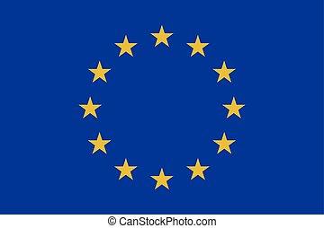 世界, 旗, ベクトル, illustration., europe.