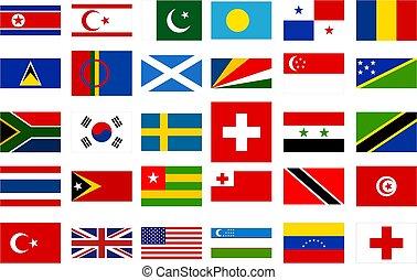 世界, 旗