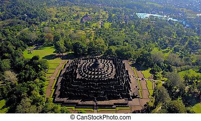 世界, 最も大きい, borobudur, 神聖なサイト, 仏教