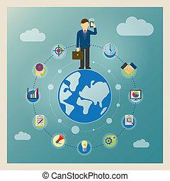 世界, 概念, ビジネス