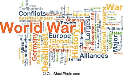 世界, 概念, 戦争, 背景