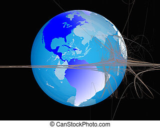 世界, 球, 事実上, space.