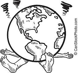 世界, 略述, 重量