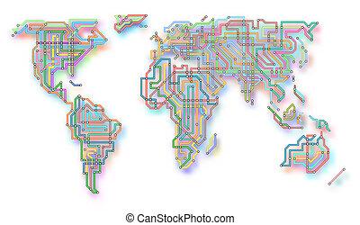 世界, 白熱, 地下鉄