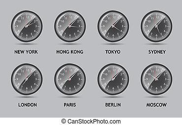 世界, 矢量, 區域, 插圖, 時間