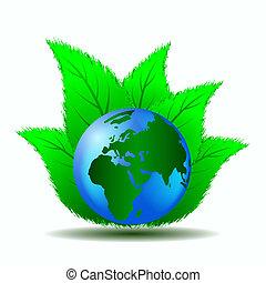 世界, 緑, きれいにしなさい
