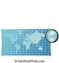 世界, 背景, 地図