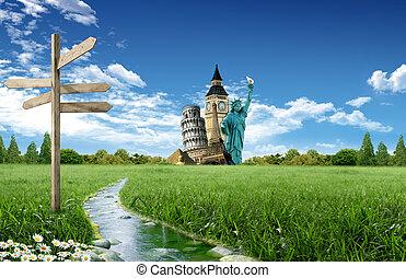 世界, 観光事業, のまわり