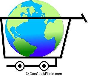 世界, 買い物